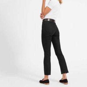 Everlane Black Wash Frayed Hem Jeans Size 24